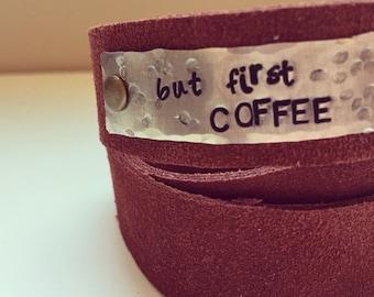 But First Coffee : Triple Wrap Bracelet