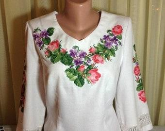 Embroidered beaded handmade