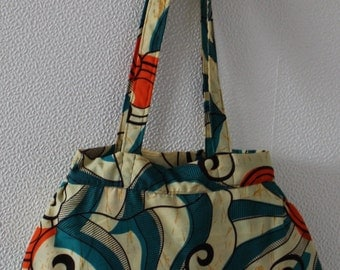 Ode African print shoulder/shopper bag