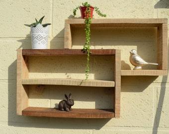 Palette wood wall shelf RECTANGLOU