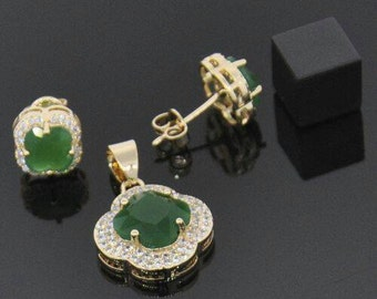 Gold layered pendant set new conditions.