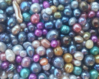 1/2 lb. of Freshwater Pearl Beads Mix, Assorted Colors