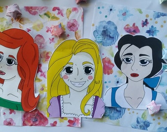 Disney Inspired Princess Stickers X 3