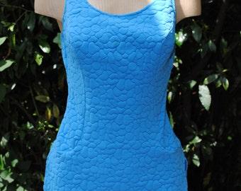 Blue swimsuit 1950