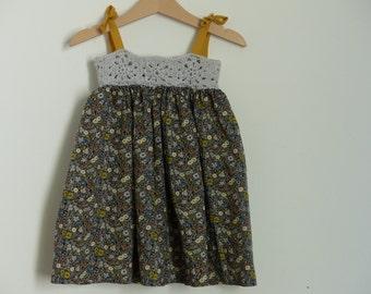 Liberty Fitzgerald and crochet dress