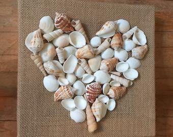 Seashell Love...Seashell Heart Wall Art