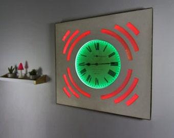LED Wall Clock, Neon Clock, Illuminated Clock, Led Clock Decor, LED Room Decor, Neon Clock Decor, Light Up Clock, LED Wall Art, Glow Clock