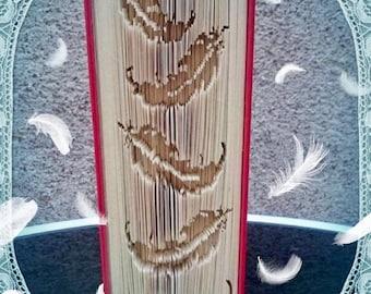 Falling Feather Book Folding Art Pattern Spiritual Heavenly Angel Unusual Unique Gift