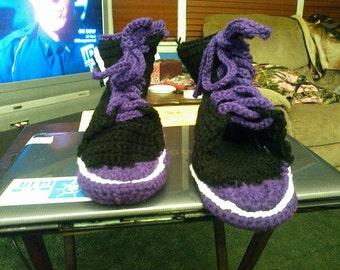 Crochet Converse Slippers Medium
