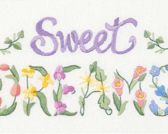 Embroidery Kit - Crewel Embroidery Kits - Dimensions Mini - Flowery Sweet Dreams - Flowers - #06235