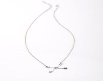 Necklace not dear Cupid arrow pendant silver jewelry women was