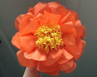 """5pk 6"""" Flowers, baby shower flowers, party decorations, wedding, picture wall flowers, baby's room decor, 6"""" mini tissue paper flowers"""