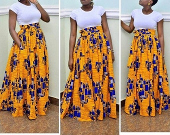 Peju Ankara maxi skirt, Ankara skirt, Ankara fabric, African fabric, African maxi skirt, African skirt, African print skirt, Maxi skirt