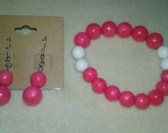Chunky pink bubblegum set