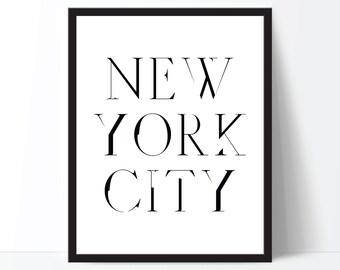 New York City Print, NYC Print, Fashion Print, New York Print, NYC Art, NYC Typography, Fashion Art, New York City Poster, New York City Art