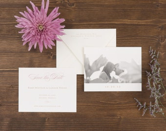 The Rose Wedding Collection by Paper Daisies, Save the Dates, Monogram, SAMPLE SET