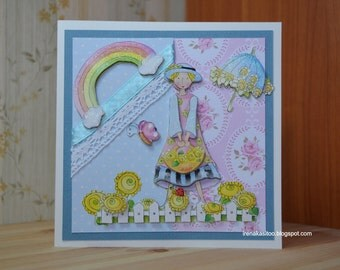 Handmade mothers day birthday card
