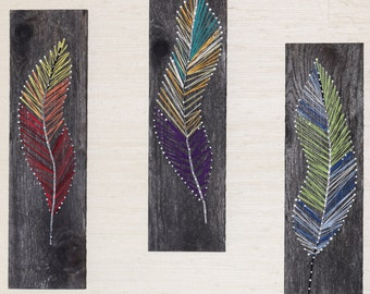 Colorful Feather String & Nail