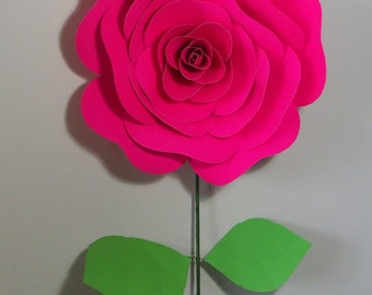 Single paper rose with or without stem