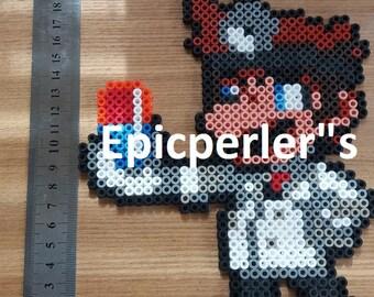 Doctor Mario perler bead art hama bead art fuse bead art large size