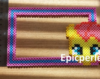 Apple bloom my little pony perler picture frame