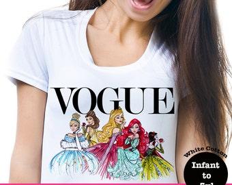 Disney Vogue Shirt, Disney Princess Vogue Shirt, Disney Princess Tank, Disney Vogue Tank, Disney Princess Shirt, Ariel Vogue Shirt