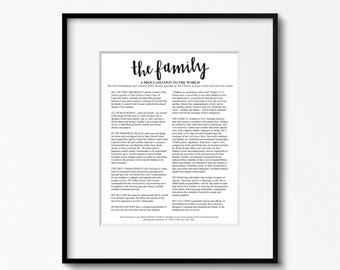The Family A Proclamation to the World. 16x20 Print. Family Proclamation Print. LDS Art. LDS Family Proclamation. Mormon Art. LDS Church.