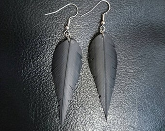 Rubber Feather Earrings