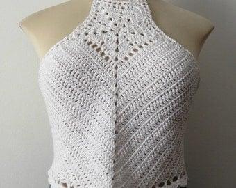 crochet, crochet top, crochet top, halter neck top