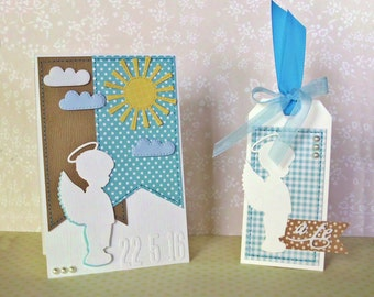 Handmade ticket and tag set for first communion