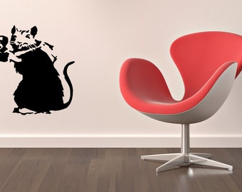 Banksy photographer rat vinyl Wall Art sticker decal graphics decor home