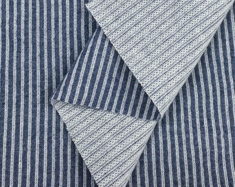 Cotton Blend Cord Fabric (Wholesale Price Available By the Bolt) USA Made Premium Quality - 5081G Indigo - 1 Yard