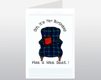 Scottish Birthday Card Armchair WWBI33