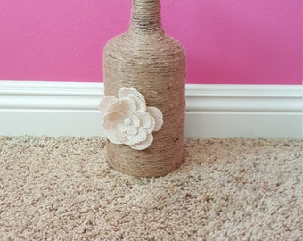 Upcycled Rustic Twine Wrapped Jug
