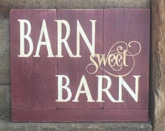Custom Wood Sign - Barn Sweet Barn