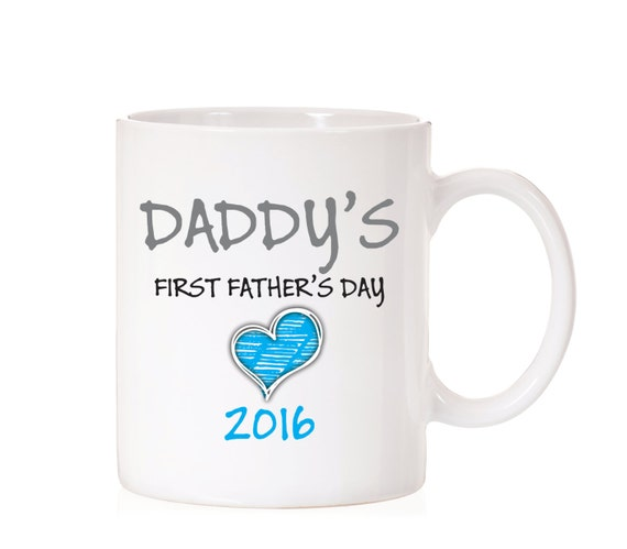 First Father's Day | Father's Day Mug | Gift For Dad | Daddy First Father's Day | Gift From Child | For Dad | Daddy Mug  | Blue