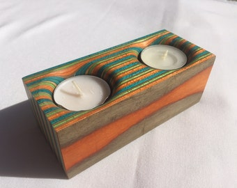 Recycled Skateboard Candle holder - Upcycled