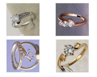 Gold filled fashion rings. Free gift box included.