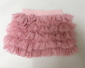 Girls Lace Ruffle Skirt