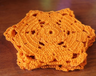 Crocheted Heart Coasters (Set of 4)