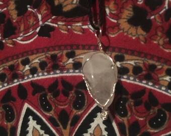 Tourmaline wrapped stone necklace