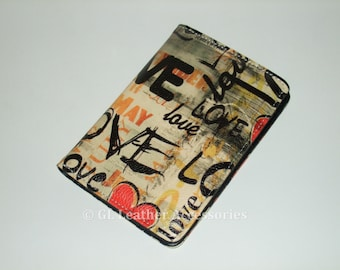 High Quality Faux Leather Passport Holder Case (Love)