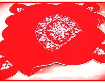 20% of discount (formerly 55 euros). TABLECLOTH red, snap-home, home decor, kitchen and dining room, table linen, embroidered tablecloth