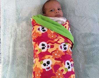 Receiving Blanket - Girly Skulls