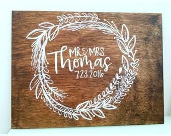 9x12 Wooden Wedding Piece