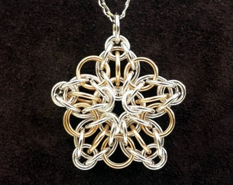 Celtic Star Pendant in Sterling Silver & 14kt Gold Fill