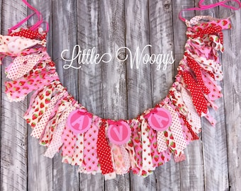 Strawberry Themed Fabric Banner