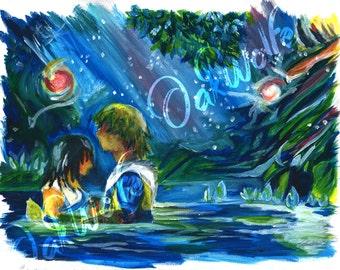 Final Fantasy X - Tidus and Yuna Romantic Scene