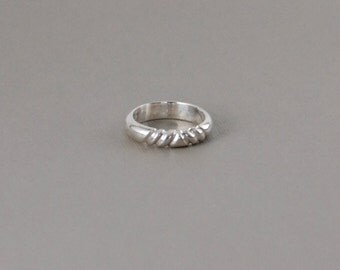 Sterling Silver Carved Ring-Thick