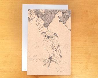 Owl Greeting Card 4x6